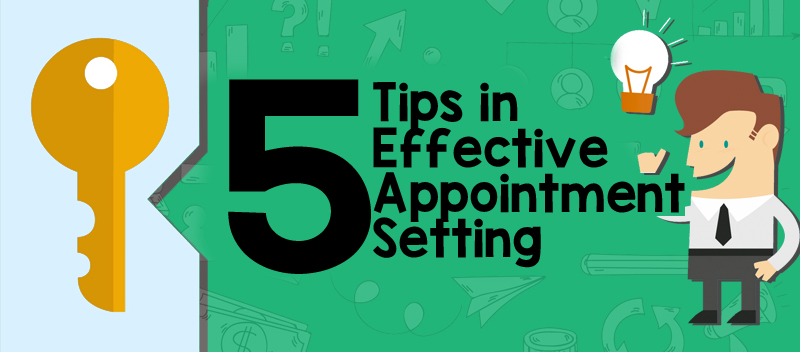 appointment setting tips